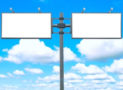 blank billboards in the blue sky highquality pictures