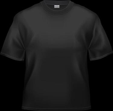 blank black tshirt stock photo
