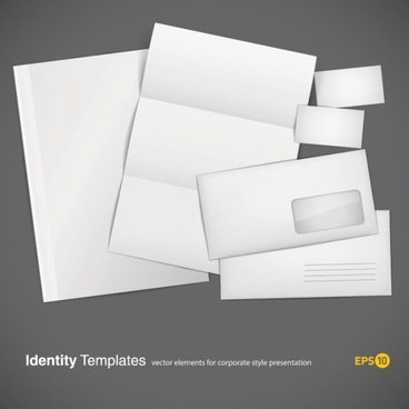 blank cards envelopes stationery vector