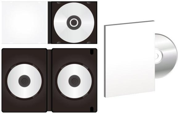 blank cd dvd packaging vector