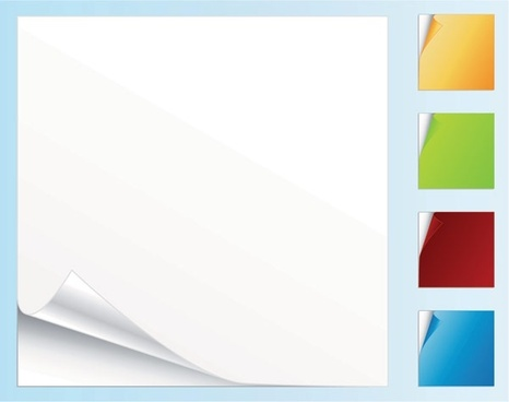 blank colored paper roll angle vector