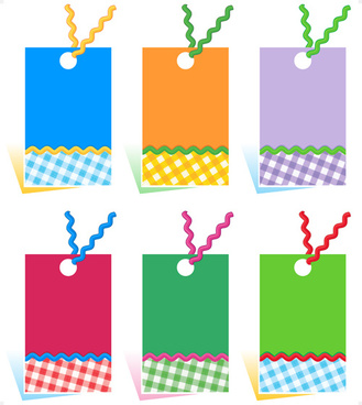 blank colored tags vector