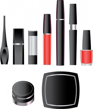 cosmetics advertising background colored modern decor