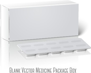 blank drugs package box design vector