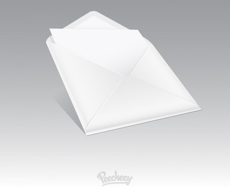 blank envelope icon in perspective