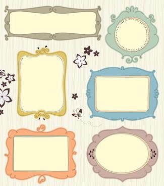 blank frames design vector collection