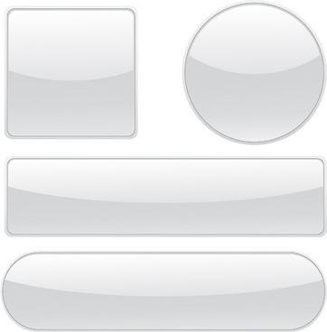 blank glass buttons vector