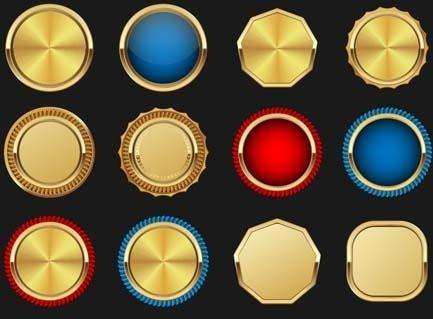 blank golden medal vectors