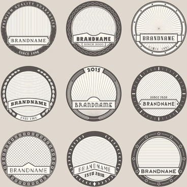 blank laurel wreath labels vintage vector