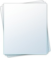 Blank note document
