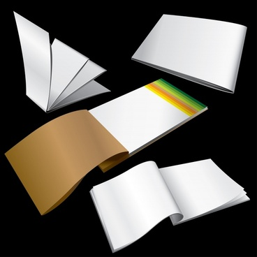 notebook icons shiny colored modern 3d shapes sketch