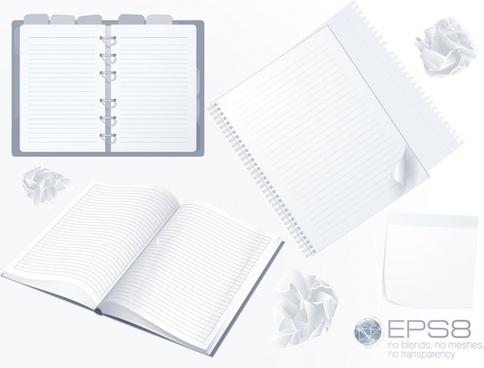 notebook templates modern 3d flat sketch
