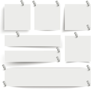blank notes paper vector
