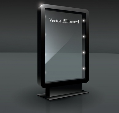 advertising billboard template modern elegant 3d sketch