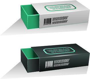 blank package box template design vector