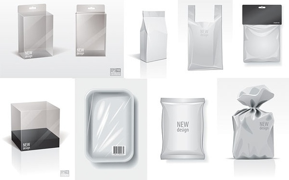 blank packaging vector