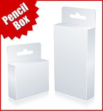 packing box icons blank 3d sketch