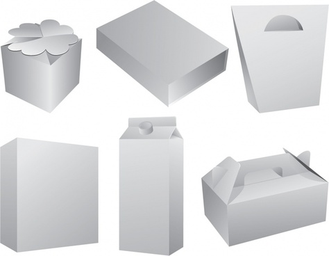 package icons blank 3d sketch white modern