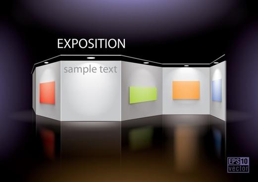 gallery design template modern 3d panels decor