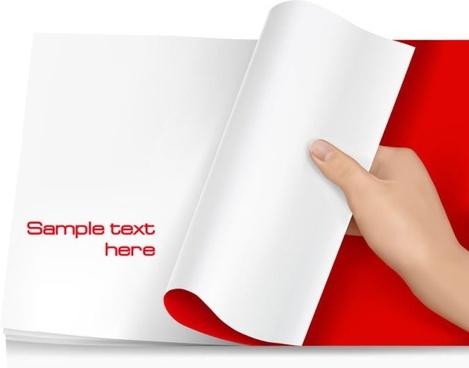 blank paper 03 vector