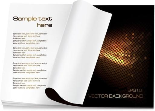 blank paper 04 vector