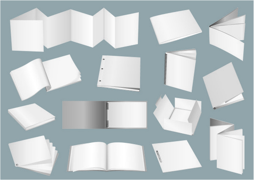 blank paper and box design vector