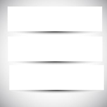 blank paper banner vector