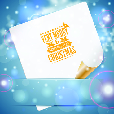 blank paper christmas greeting card vector