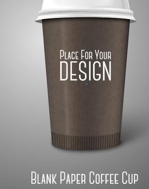 blank paper coffee cup design vector