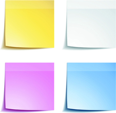 blank paper notes vector