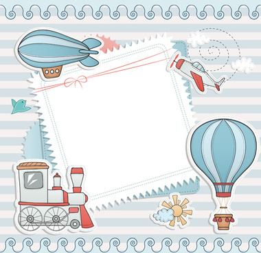 blank paper with baby card vector