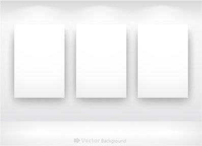 blank frames templates modern white plain design