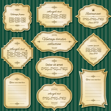 blank retro labels cards vector