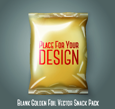 blank snack package elements vector