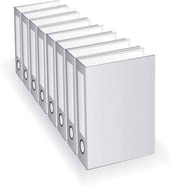 document folder icon modern grey 3d sketch