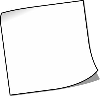 Blank Sticky Note clip art