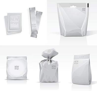 blank template vector bags