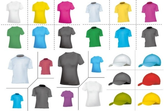blank tshirt hat vector