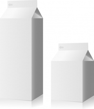 carton box packages icons white 3d sketch