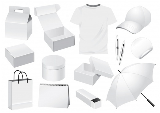 personal stuffs icons 3d white sketch