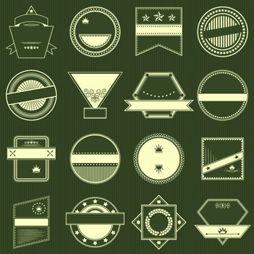 blank vintage labels vector set