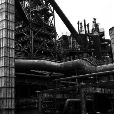 blast furnace duisburg black and white