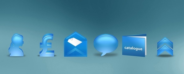 Bleu Icons icons pack