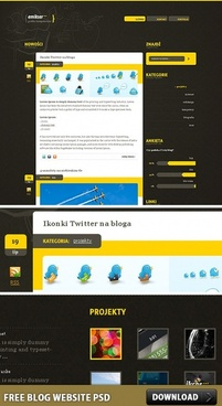 Blog Website Free PSD