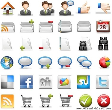 Blogging Icon Set icons pack