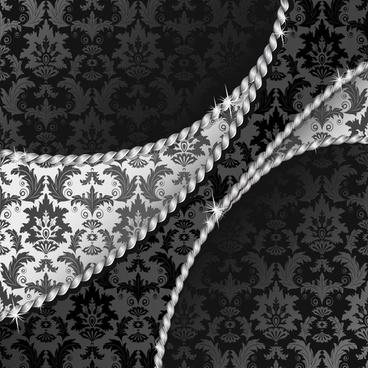 decorative background elegant luxury classic floras dark grey