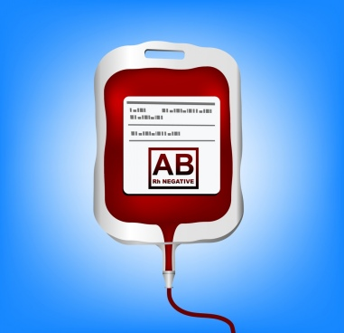 blood containing bag icon colored flat design