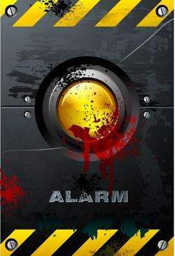 alarm background modern 3d design grunge ornament