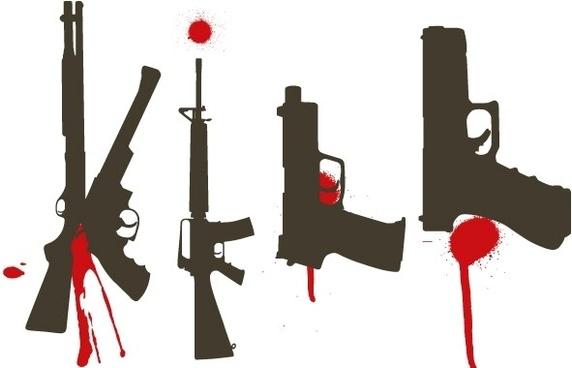 Bloody Guns free vector