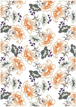 flowers pattern design colorful repeating style textile decoration